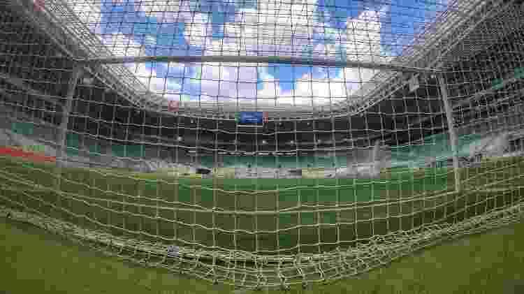 Allianz Parque recebeu um novo gramado sintético no início de 2020 - Divulgação/SE Palmeiras - Divulgação/SE Palmeiras