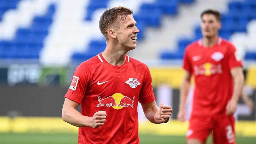 Dani Olmo, atacante do RB Leipzig, marcou duas vezes na vitória de ontem (12) sobre o Hoffenheim - Divulgação
