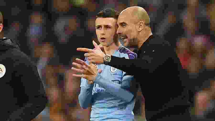 """Phil Foden é o novo """"queridinho"""" de Guardiola no Manchester City - Getty Images"""