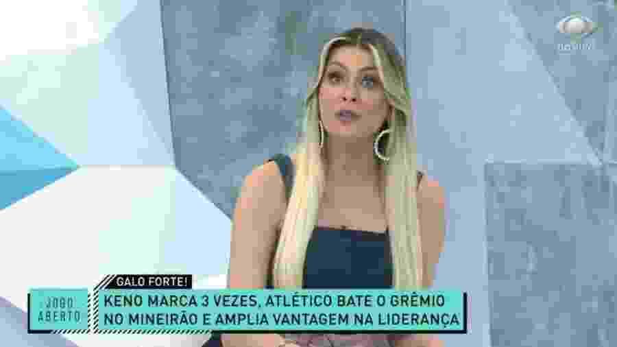 Renata Fan provoca Renato Gaúcho após derrota do Grêmio para o Atlético-MG - Reprodução/Band