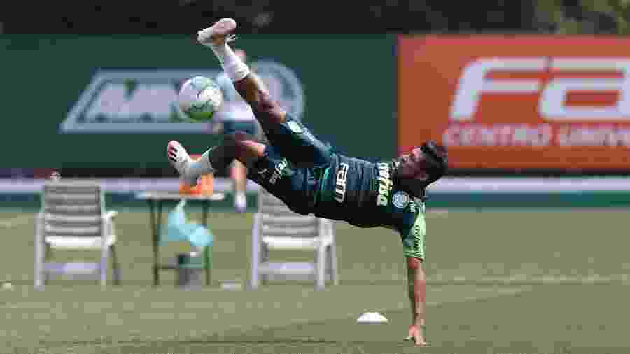Rony, durante treino do Palmeiras na Academia de Futebol - Cesar Greco