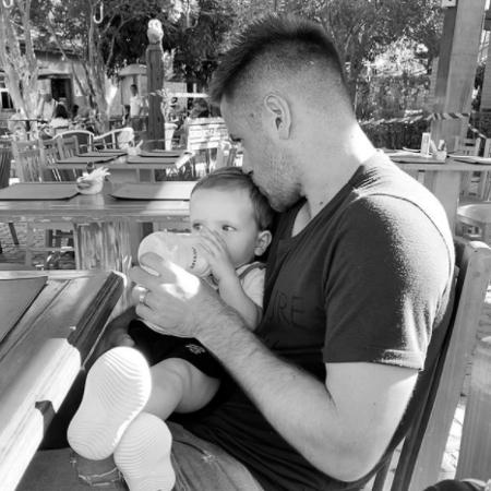 """Pai do pequeno Romeo, Ramiro se prepara para iniciar o protocolo da """"bolha"""" no Corinthians e ficar longe do filho  - Reprodução/ Instagram"""