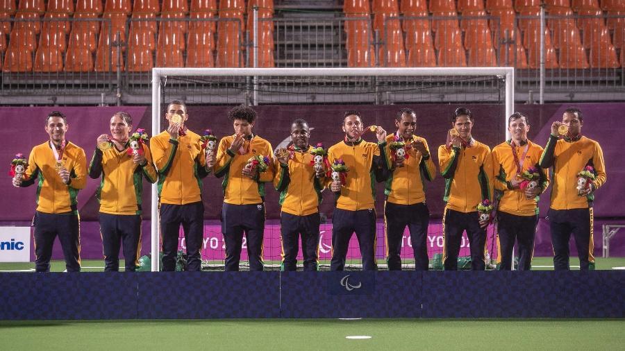 Seleção brasileira de futebol de 5 conquista pentacampeonato - Ale Cabral/CPB