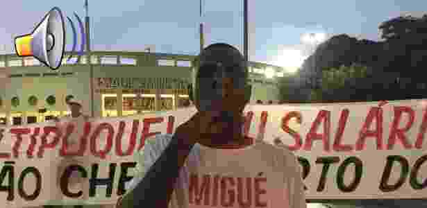 Protesto contra Michel Bastos - Luiza Oliveira / UOL - Luiza Oliveira / UOL