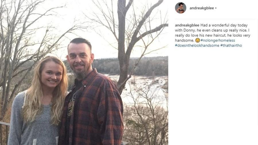 Andrea Lee foi vítima de violência doméstica pelo marido, Donny - Reprodução