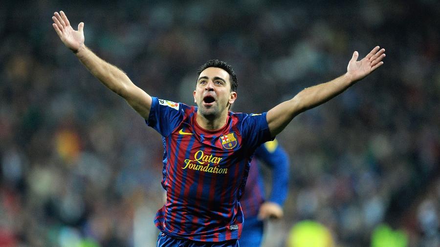 Xavi Hernández é disparado o jogador que mais vestiu a camisa do Barcelona, com 767 jogos - Denis Doyle/Getty Images