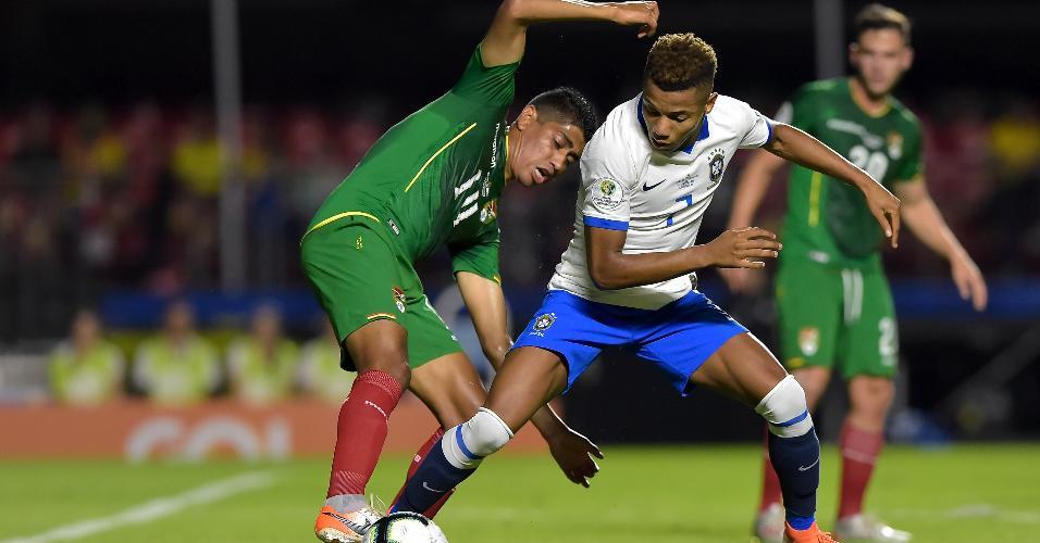David Neres durante partida do Brasil contra a Bolivia no Morumbi pelo Copa America