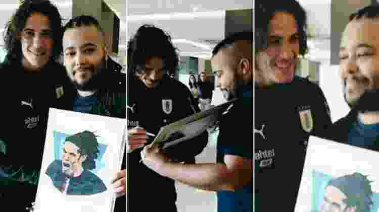 Rodrigo e Cavani - Reprodução/Instagram - Reprodução/Instagram