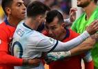 Pivô da expulsão de Messi, Medel atirou chiclete em torcedor - Nelson Almeida/AFP