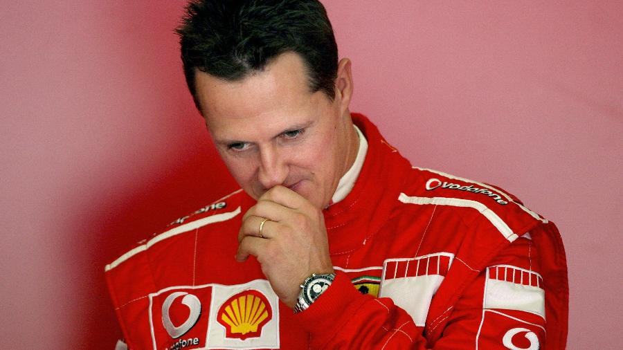 Michael Schumacher em 2006 - JOSE LUIS ROCA / AFP