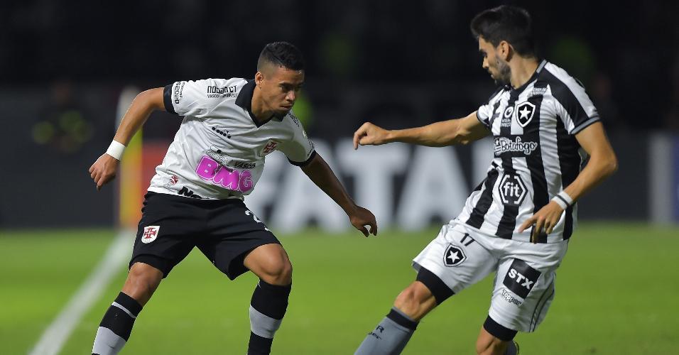 Yago Pikachu, durante partida entre Vasco e Botafogo