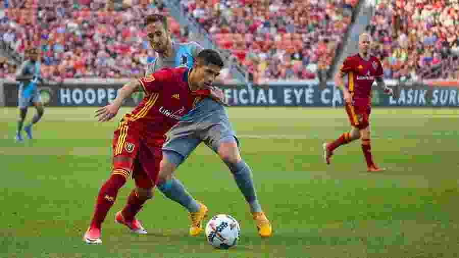 Jefferson Savarino, atacante do Real Salt Lake, pode reforçar o Atlético-MG no mercado da bola - Divulgação/Real Salt Lake