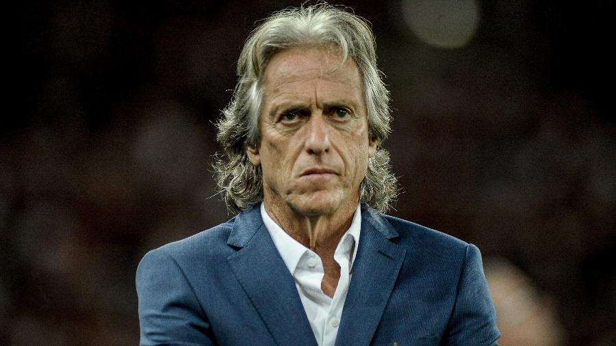"Teste de Jorge Jesus, técnico do Flamengo, para coronavírus deu ""positivo fraco"" - Allan Carvalho/AGIF"