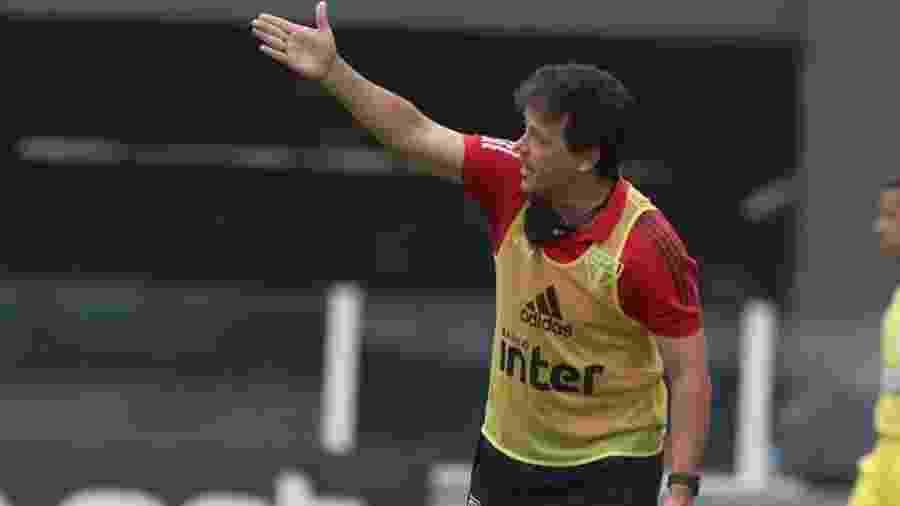 Fernando Diniz, técnico do São Paulo, durante partida contra o Guarani - Rubens Chiri