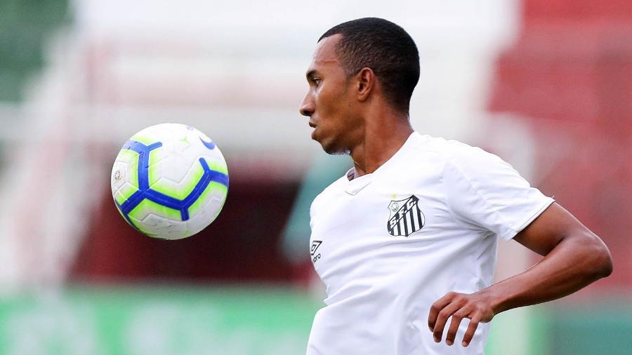 Lucas Braga em atuação pelo Santos B - Pedro Ernesto Guerra Azevedo/Santos FC