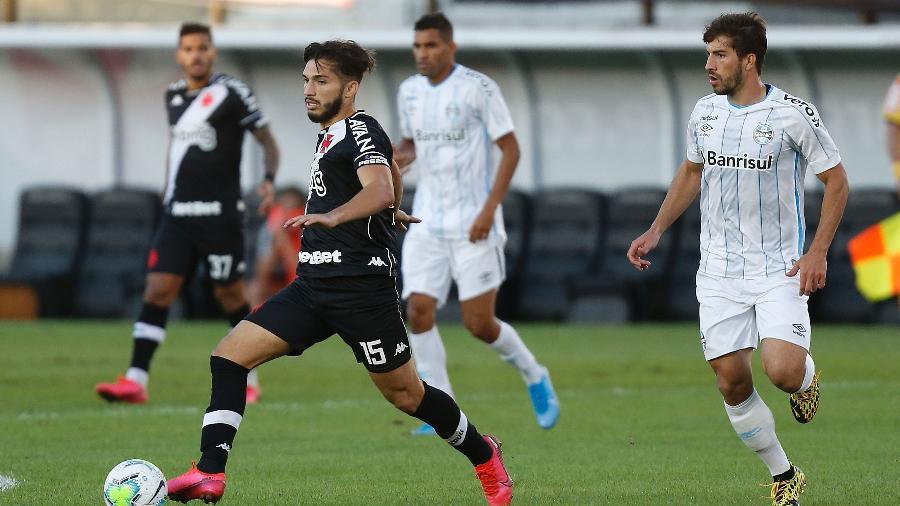 Volante Andrey recebeu o terceiro cartão amarelo contra o Grêmio e desfalca o Vasco diante do Fluminense - Rafael Ribeiro / Vasco