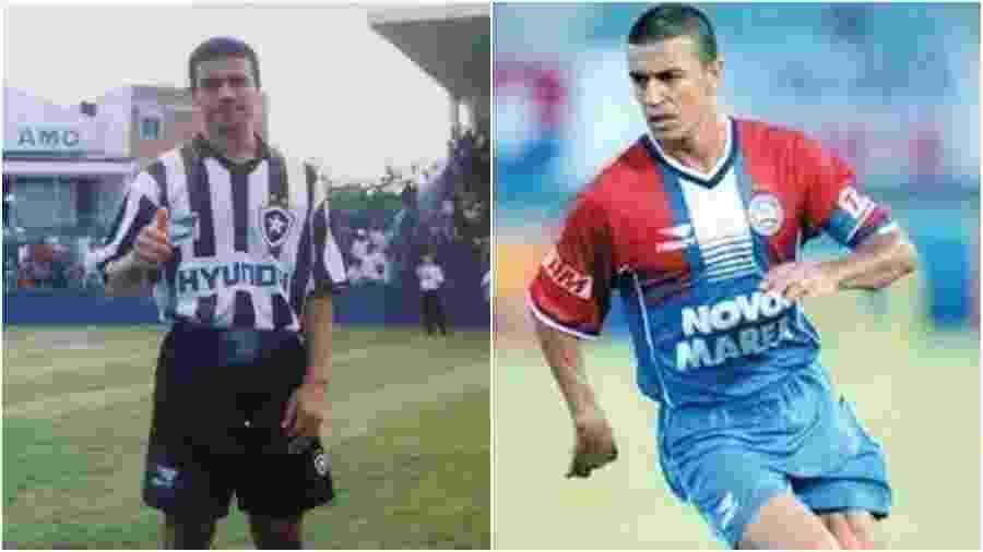 Ex-lateral Jefferson pelo Botafogo e pelo Bahia - Arquivo pessoal e reprodução instagram