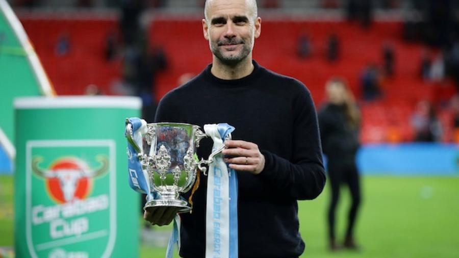 Guardiola já conquistou duas taças nesta temporada e pode levar a Champions League - Reprodução Twitter/Manchester City FC