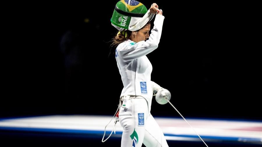 Nathalie Moellhausen, do Brasil, esgrimista, nas Olimpíadas de Tóquio - Miriam Jeske/COB