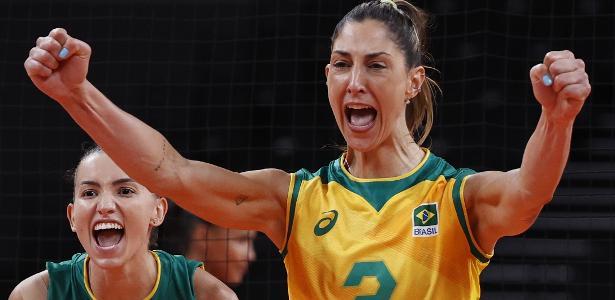 3 sets a 2 no vôlei feminino | Brasil sofre, mas confirma favoritismo e vence República Dominicana