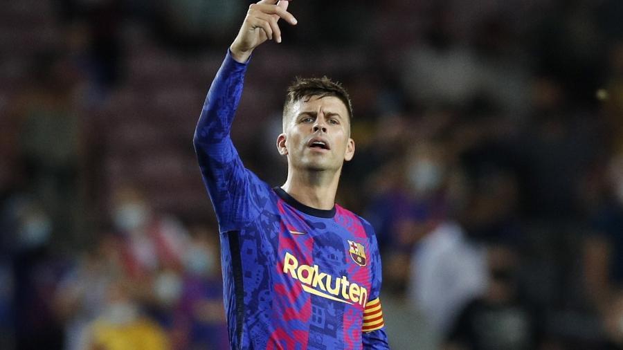 Gerard Piqué, zagueiro do Barcelona, durante a derrota contra o Bayern de Munique na Liga dos Campeões - REUTERS