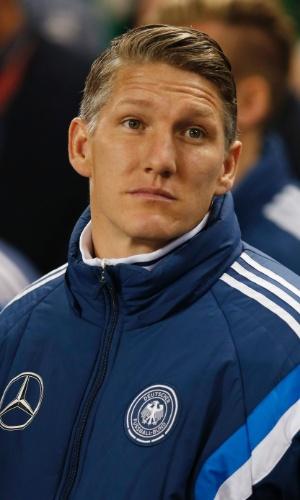 Schweinteiger com uniforme de treino da seleção alemã