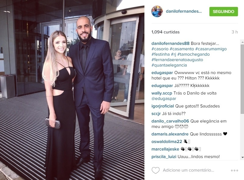 11.dez.2015 - Goleiro do Sport Danilo se prepara para casamento do meia Renato Augusto