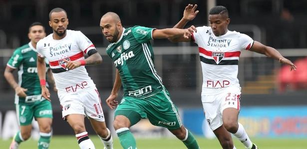 Atacante começou a partida como titular do Palmeiras no clássico do último domingo