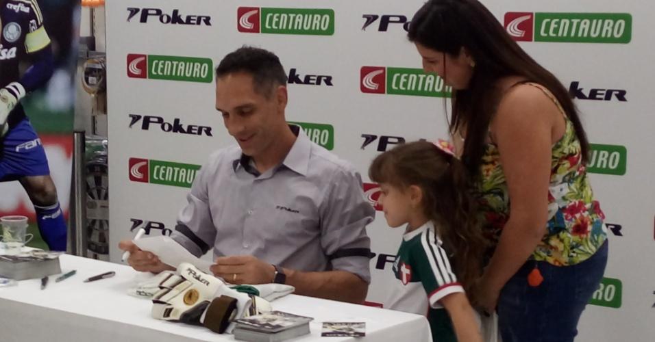 Fernando Prass autógrafos Palmeiras seleção