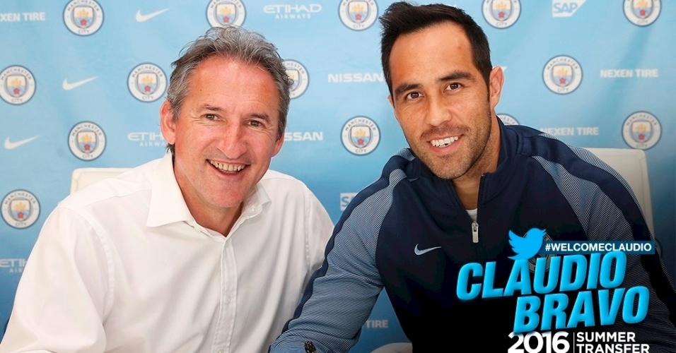 Claudio Bravo conta que Guardiola pesou na escolha pelo Manchester City