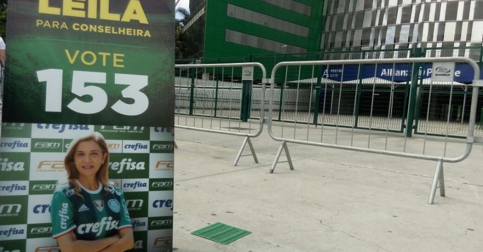 Dona da Crefisa, patrocinadora do Palmeiras, Leila faz campanha para se tornar conselheira do clube