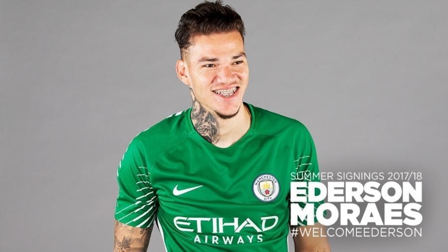 Ederson, um dos reforços do Manchester City para a temporada - Manchester City/Divulgação