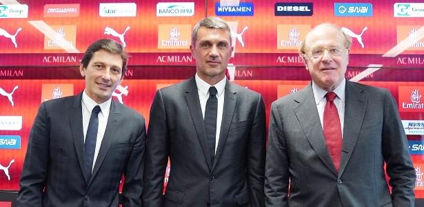 Os ex-jogadores Leonardo e Maldini voltam ao clube na gestão do presidente Scaroni