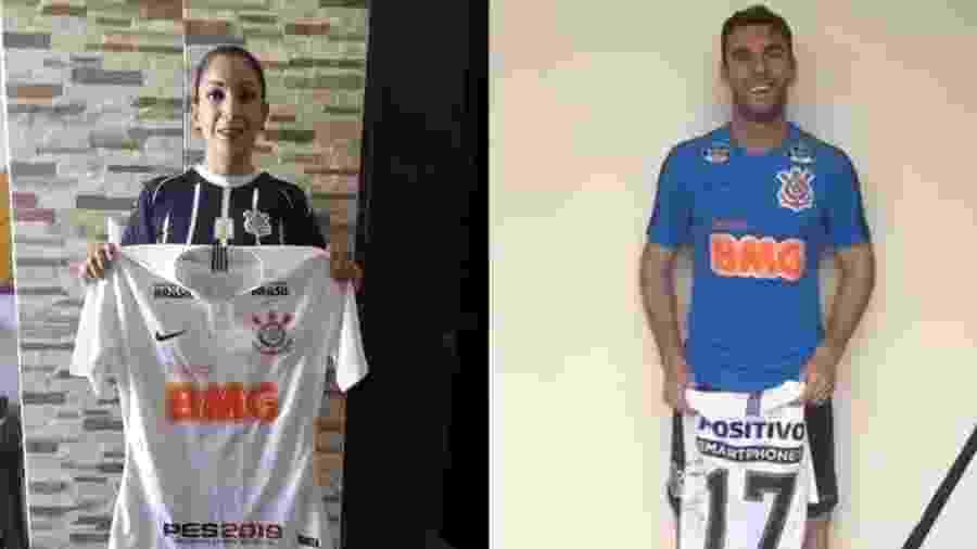 Mexicana Fabiola Ramirez posa com camisa enviada pelo Corinthians e autografada por Boselli - reprodução/Twitter