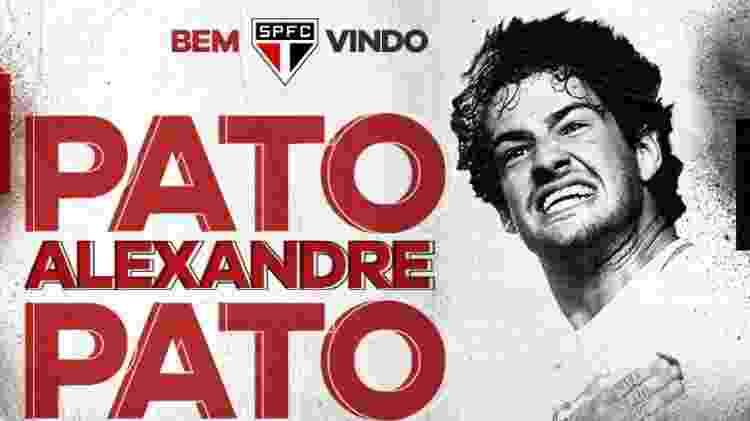 pato anúncio - divulgação/São Paulo FC - divulgação/São Paulo FC