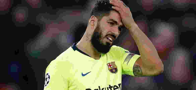 Luis Suárez, atacante do Barcelona, pode perder o fim da temporada e até a Copa América - Xinhua/Martin Rickett/PA Wire/ZUMAPRESS