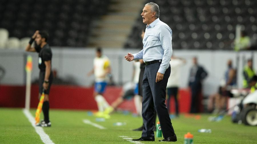 Tite, durante o amistoso da seleção brasileira contra a Coreia do Sul - Lucas Figueiredo/CBF