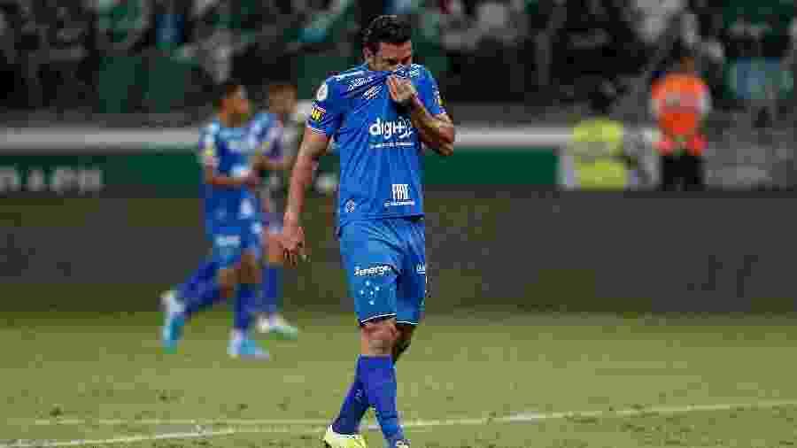 Fred se lamenta durante a partida entre Cruzeiro e Palmeiras - Miguel Schincariol/Getty Images
