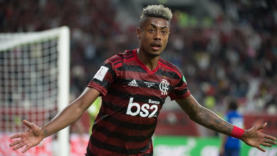 Bruno Henrique comemora o gol da virada sobre o Al-Hilal na semifinal do Mundial de Clubes - Alexandre Vidal/Flamengo