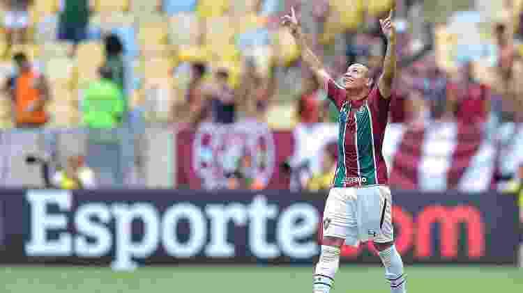 Wellington Silva, do Fluminense, comemora gol diante do Botafogo pelo Campeonato Carioca - Thiago Ribeiro/AGIF - Thiago Ribeiro/AGIF