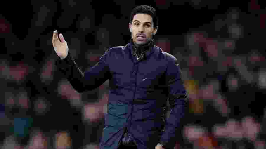 Mikel Arteta, técnico do Arsenal - Paul Childs/Reuters