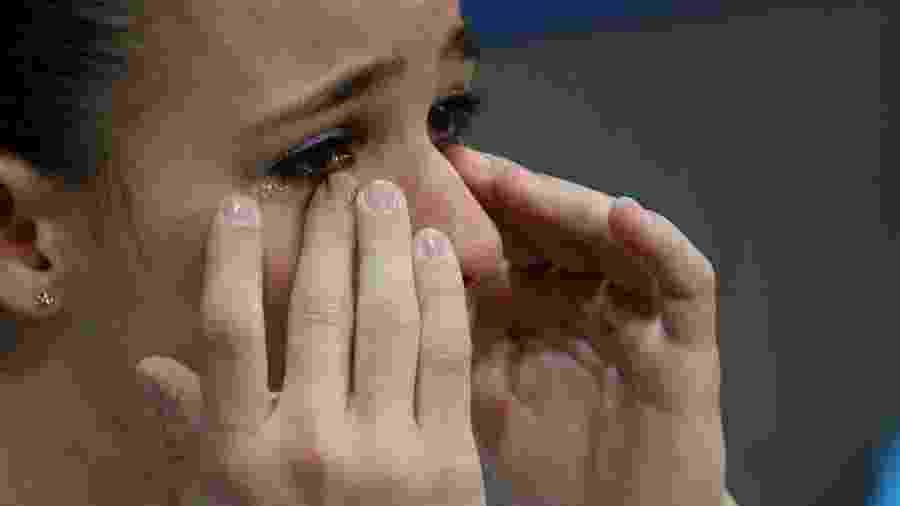 Jade Barbosa no Mundial de 2007. No Pan daquele mesmo ano, foi questionada sobre choro - Thomas Niedermueller/Bongarts/Getty Images