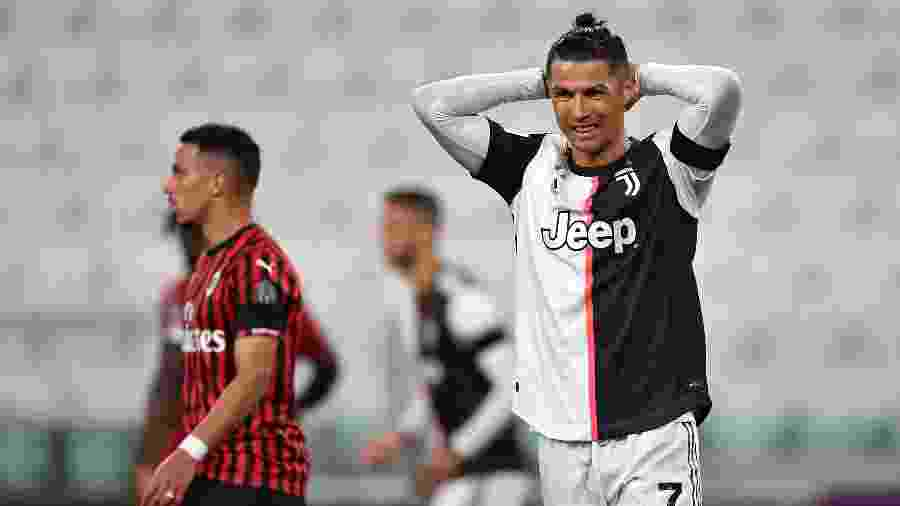 Cristiano Ronaldo durante partida contra o Milan pela Copa da Itália - Valerio Pennicino/Getty Images