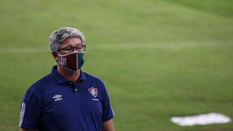 Odair Hellmann, técnico do Fluminense, foi afastado por estar com suspeita de Covid-19 - Lucas Merçon/Fluminense FC