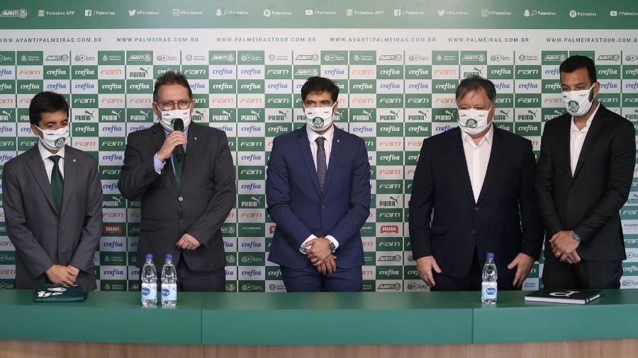 Alexandre Zanotta, Paulo Buosi, Abel Ferreira, Anderson Barros e Edu Dracena no Palmeiras - Cesar Greco