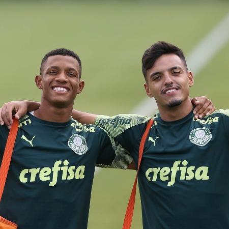 Danilo e Gabriel Menino, dois dos destaques da base do Palmeiras - Cesar Greco/Palmeiras