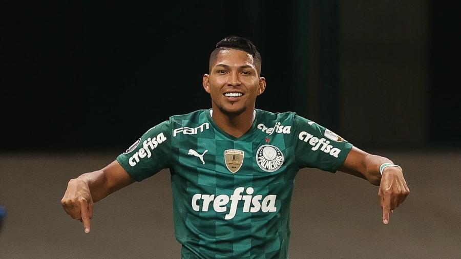 Rony em ação pelo Palmeiras na Libertadores  - Cesar Greco/ Palmeiras