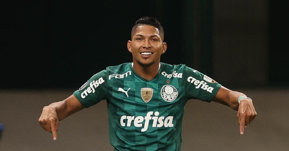 Rony marcou dois gols na vitória do Palmeiras contra o Independiente