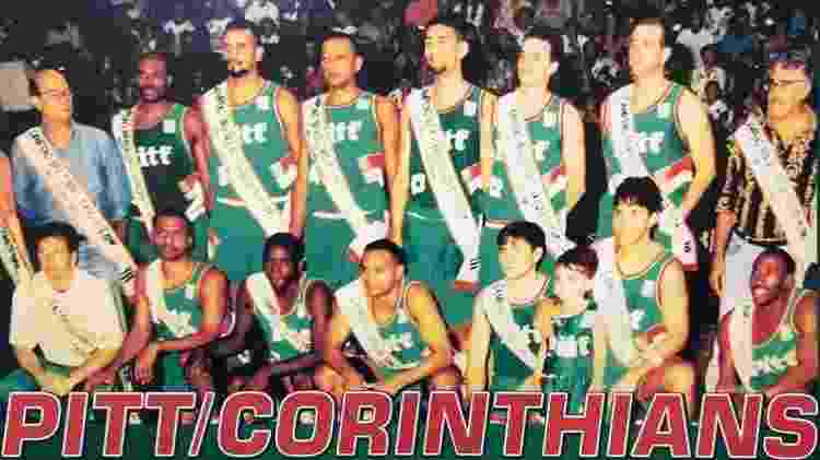 Corinthians de Santa Cruz do Sul-RS foi campeão brasileiro de basquete em 1994 com o treinador Ary Vidal (à esq.) - Agência Brasil/Divulgação - Agência Brasil/Divulgação