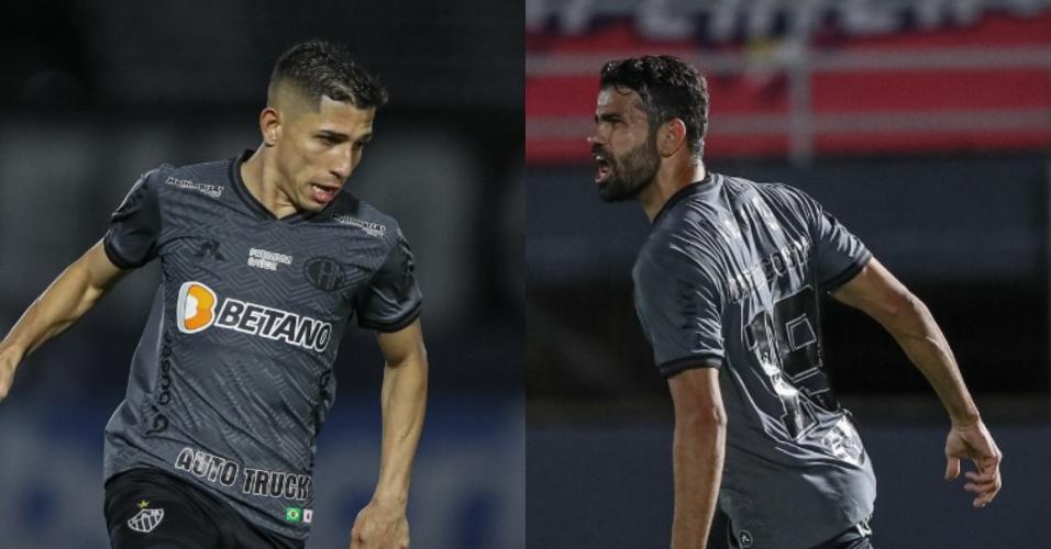 Savarino e Diego Costa estão indisponíveis no Atlético-MG, que faz força-tarefa para liberar atacantes para decisões